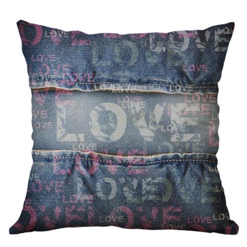 18/'/'  Fashion printing Pillow Case Linen Cushion Cover Car Sofa Home Decor