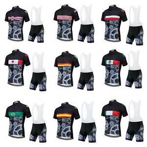 2020 Countries Team Fahrradbekleidung Herren Radtrikot Und Tragerhose Set S 5xl Ebay
