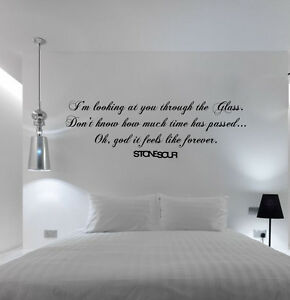Image Is Loading Stone Sour Through Glass Lyrics Extra Large Wall