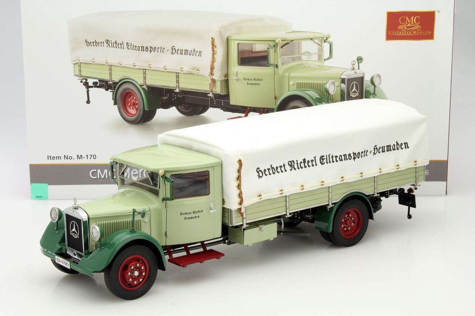 CMC 170 - MERCEDES BENZ LO2750 PLATEAU AVEC BACHE 1934 1938  1 18