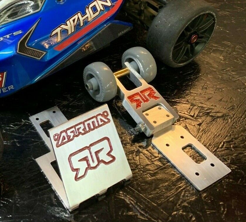 NEW Wheelie Bar for Arrma Typhon Adjustable + front wing for top speed