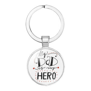 My Dad Is My Hero Keyring. Great Gift Idea For Fathers Day, Christmas, Birthday