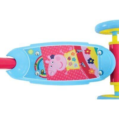 PEPPA PIG My First Tri-Scooter 3 Wheels Kids New Girls Boys Gift Beginner Uk