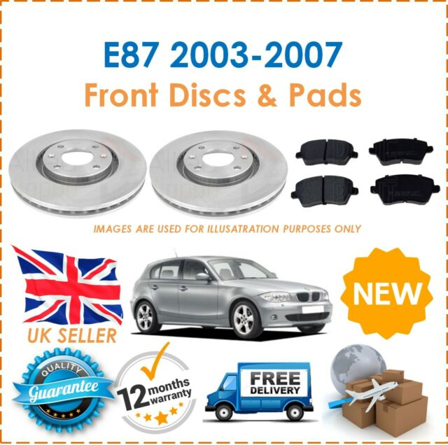 OEM SPEC FRONT AND REAR DISCS PADS FOR BMW 116 1.6 E87 2004-09