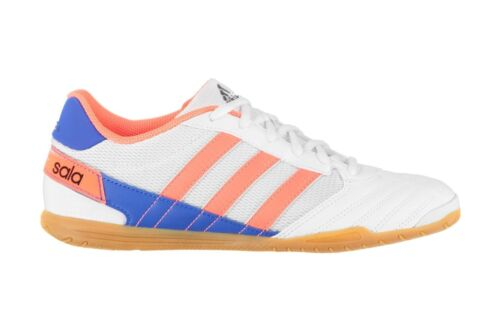 adidas Mens Super Sala Indoor White Coral Blue Trainers Sports Shoes