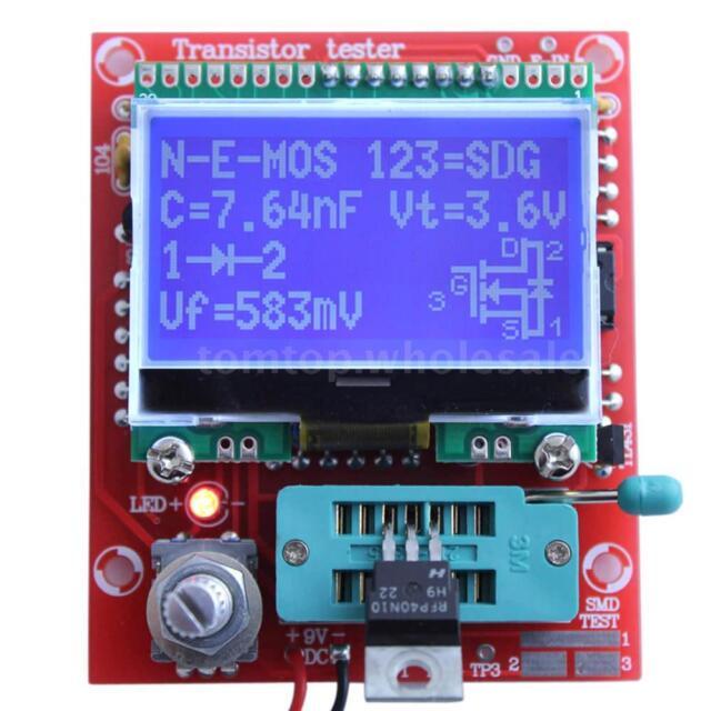 M328 LCD 12864 Transistor Tester DIY Kit Diode Triode Capacitance LCR ESR Meter