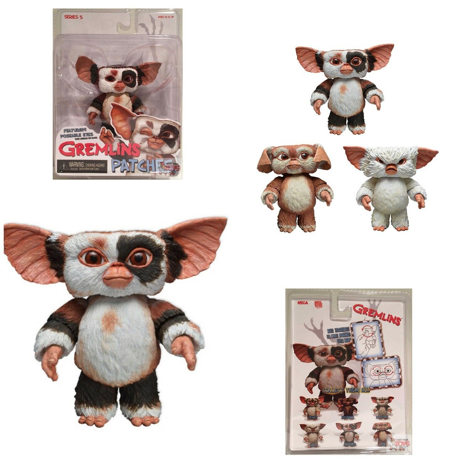 PATCHES MOGWAI NECA Gremlins 2 2 2 series 5 2014 4  Inch LIMITED ACTION FIGURE c7461e