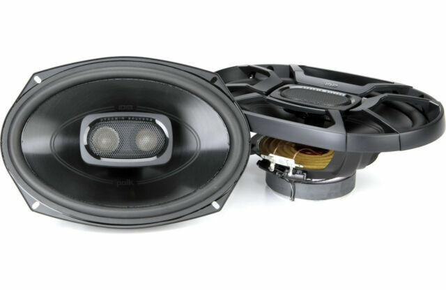 Pair, Silver Polk Audio DB691 6-by-9-Inch 3-Way Speakers