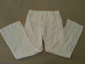 Womens-Banana-Republic-Linen-Dress-Pants-10-White-Slack-Khaki-Trouser-32x32