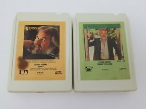 Kenny-Rogers-8-Track-Tapes-Lot-of-2-Share-Your-Love-amp-Kenny-Decorated-My-Life