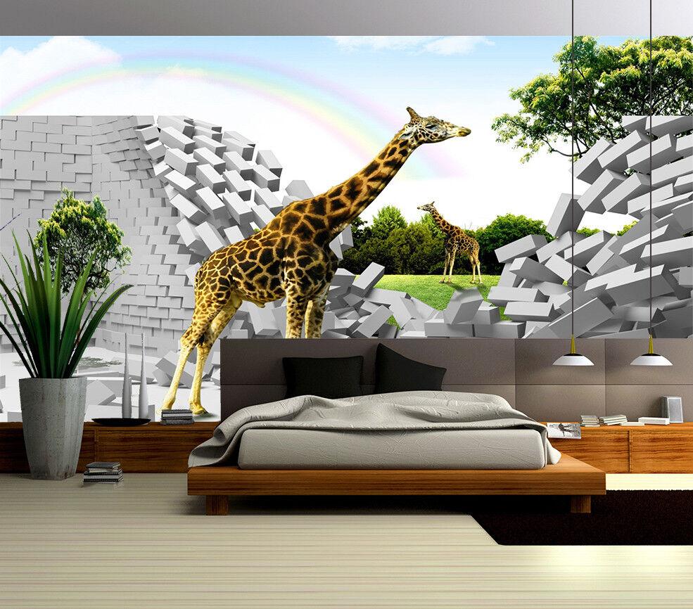 3D Rainbow Sky 447 Wallpaper Murals Wall Print Wallpaper Mural AJ WALL UK Summer
