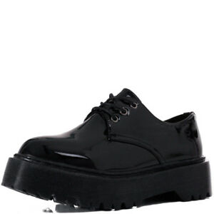 Womens Extra Chunky Platform Lace Up