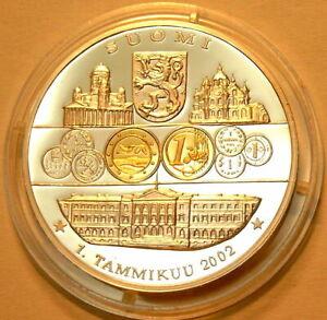 Finlandia introduzione euro 2002 EURO PP Ø 40mm 30g ORO Vered. vecchia + nuova valuta