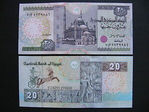 Unc Discounts Sale Egypt 20 Pounds 23.5.2013 p65