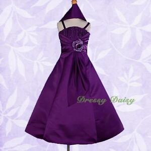Satin-Flower-Girl-Dress-Wedding-Bridesmaid-Flowergirl-Party-Size-2-12-FG175S