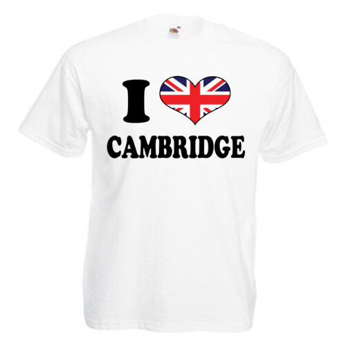 I Love Cuore Cambridge Adulti Da Uomo T Shirt