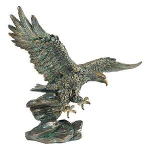 """Wingspan Victory's Eagle Design Toscano 15½"""" Statue With Antique Bronze Finish"""