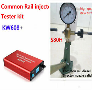 Details about KW608 multifunction diesel common rail injector tester S80H  Nozzle Validator