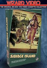 Linda Blair Savage Island - VHS BIG BOX Wizard Video 1985 Director Ted Nicolaou