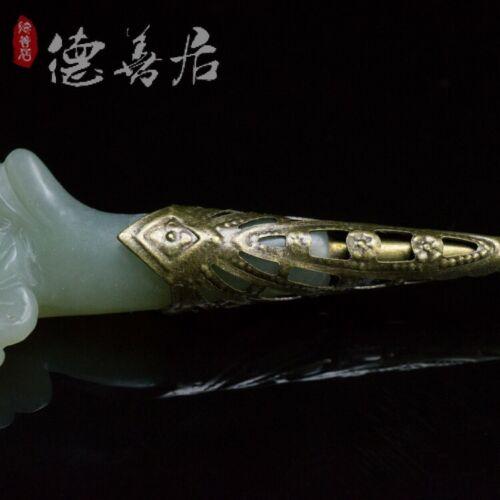 new chinese style hetian Jade hair pin