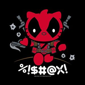 37ff608f0 Unisex T-Shirt Deadly Kitty Deadpool Hello Kitty comics OffWorld ...