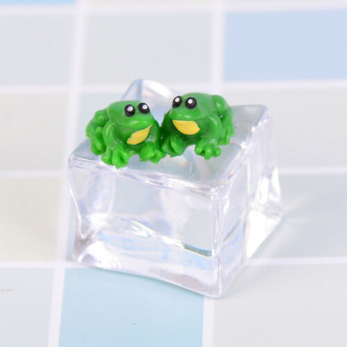 2PCS Dollhouse miniature game scene model accessories mini frog EPP0HWC