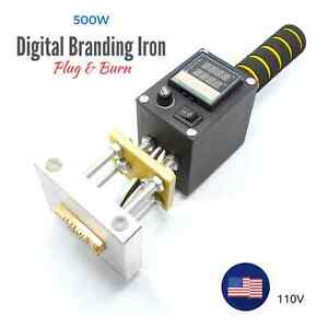 Details About 500w 110v Electric Branding Iron For Leather Wood With Temperature Control