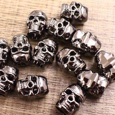 Skull Bead 10pc S DOUBLE FACE 9 Couleur Paracord Cordon Bracelets Bijoux Artisanat