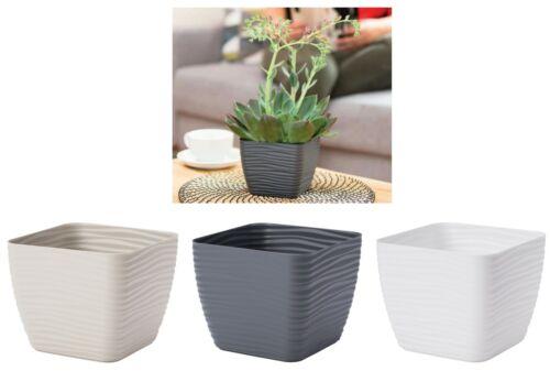 2 cache-pot Slim ondes rectangulaire 3 Couleurs 6 Tailles pot de fleurs effet 3d