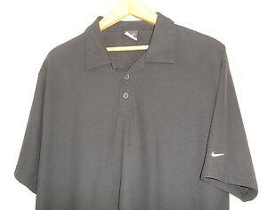Nike-Dri-Fit-Short-Sleeve-Black-Polo-Style-Golf-Shirt-XL-NWOT