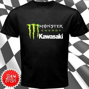Monster Energy Kawasaki short sleeve T shirt Black | eBay