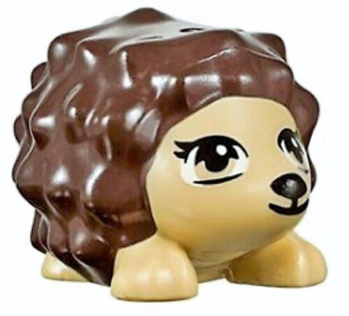☀️NEW Lego Friends Animal Pet Reddish Brown Spikes Hedgehog Tan Face