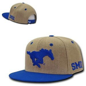 huge selection of 3799d 1688e La foto se está cargando NCAA-SMU-Southern-Methodist-University-pesado-Yute- Snapback-
