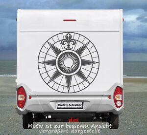 Details Zu Kompass Windrose Sonnenuhr Maritimer Wohnmobil Aufkleber In Top Qualität