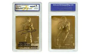 TOM BRADY 2000 Fleer Ultra 23K GOLD ROOKIE Card Metallic Signature Series GEM 10