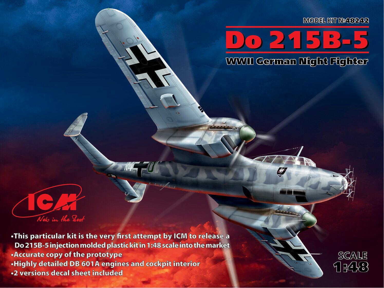 ICM 48242 Do 215 B-5, WWII German Night Fighter 1 48 plastic model kit 330 mm