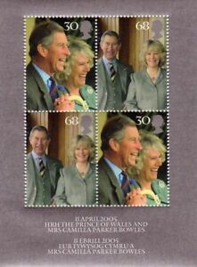 GB-2005-Commemorative-Stamps-Royal-Wedding-M-S-Unmounted-Mint-Set-UK-Seller