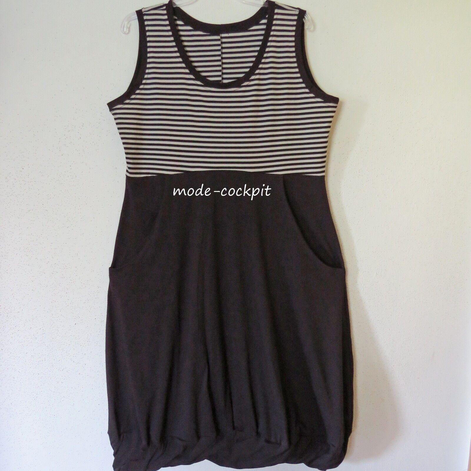 BORIS INDUSTRIES Träger Shirt Kleid gedrehter Saum schwarz-silbergrau 48 (5)