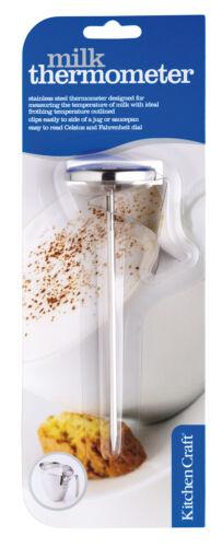 Nouveau Kitchen Craft Cappuccino en Acier inoxydable sonde thermomètre formation de mousse de lait