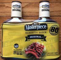 2 X Kc Masterpiece Original Bbq Sauce 80 Ounces - Free Priority Shipping