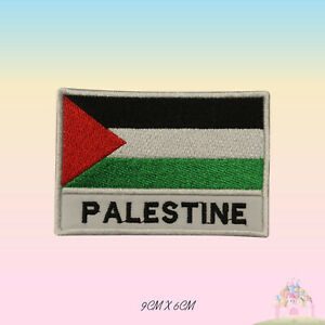 Palestine National Flag With Name Embroidered Iron On Patch Sew On Badge