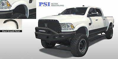 BLACK PAINTABLE Extension Fender Flares 2010-2018 Dodge RAM 2500 / RAM 3500 4pcs
