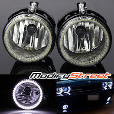 FOR 06-09 DODGE CHARGER/07-09 CALIBER SMD HALO CLEAR FOG LIGHTS DRIVING LAMPS