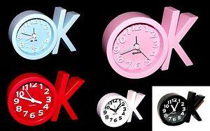 Konstruktiv Ok Fashion Design Analog Quartz Wecker Alarm Weckuhr Tischwecker Reisewecker Uhr