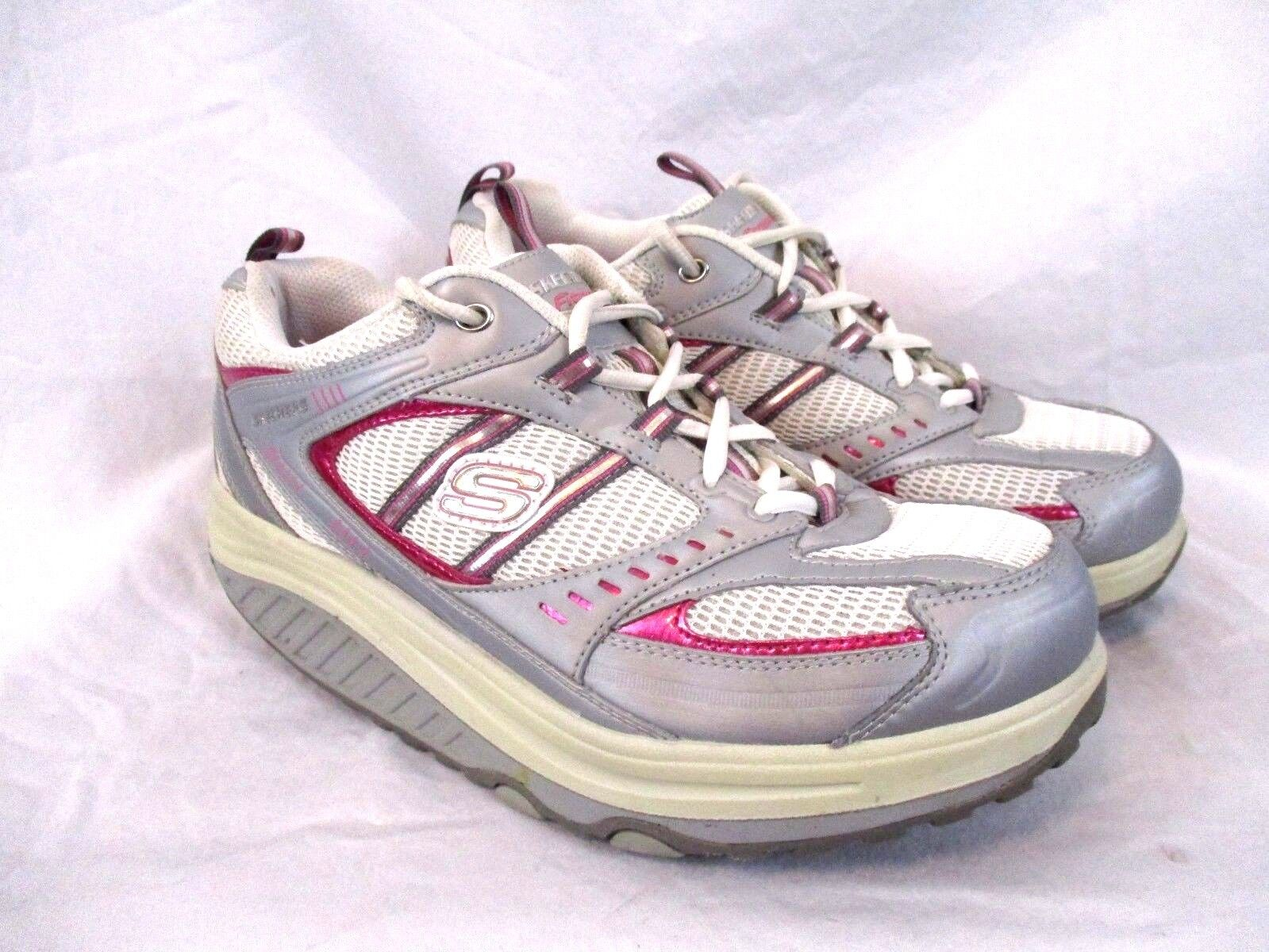 Sketchers Fitness Shape Ups Womens Walking Toning Sneakers Sz 9.5 White Pink SS1