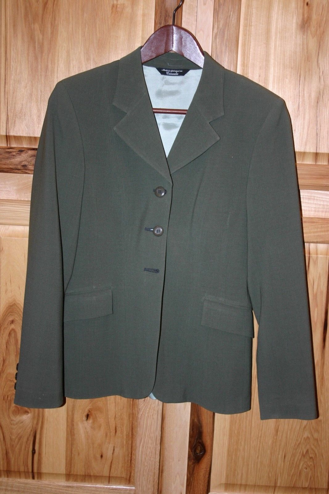Grand Prix Extreme Stretch English Hunt Show Coat  Olive Green 10R  Reduced  save up to 70% discount