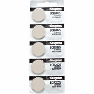 5 x Energizer CR2025 Batteries, Lithium Battery 2025 | Shipped from Canada