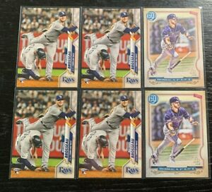 Michael-Brosseau-RC-Lot-6-2020-Topps-Tampa-Bay-Rays