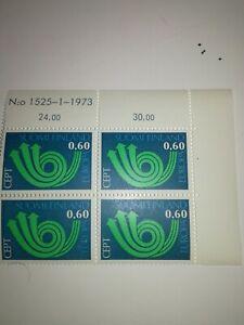 Bloc-de-4-coin-de-feuille-Europa-cept-finlande-xx-1973