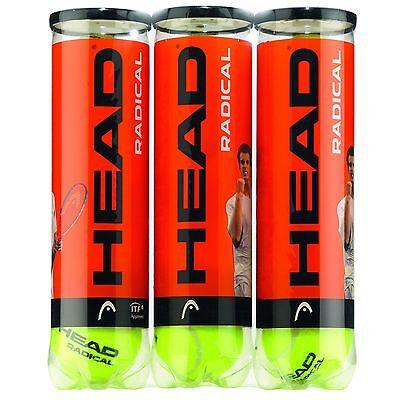 1 X Nuovo Head Radical Palla Da Tennis Confezione Tripla (1 Dozzina Palline)